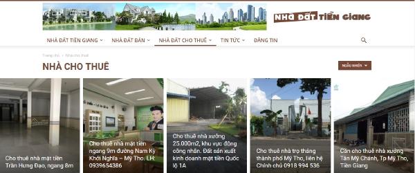Đăng tin mua bán nhà đất Tiền Giang