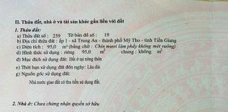 Đất Trung An - TP Mỹ Tho- Tiền Giang